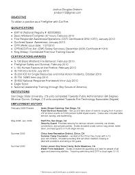 firefighter resume template sle resume for firefighter position officer resume