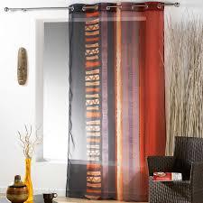 rideau voilage cuisine rideaux 140x240 cm voile voilage oeillets métal motif afrique