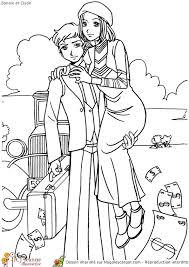 les voyous amoureux bonnie et clide de dallas à colorier
