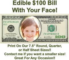 edible money 100 dollar bill edible cake topper image money edible cake