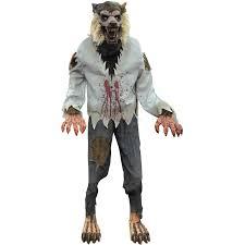 lurching werewolf animated halloween decoration walmart com