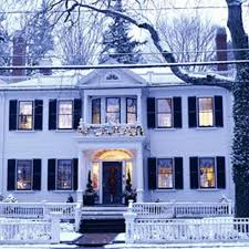 new houses being built with classic new england style classic christmas traditional home