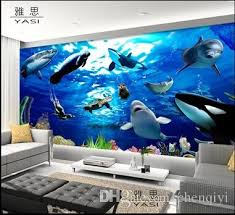 new can be customized large 3d mural art wallpaper home decor