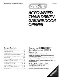 Blue Max Garage Door Opener Manual by Genie Intellicode Garage Door Opener Troubleshooting Wageuzi