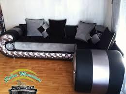 canapé orientale moderne salon marocain moderne noir et argent idées de décoration capreol us
