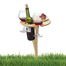outdoor wine glass holder table outdoor wine glass holder wine stakes uncommongoods