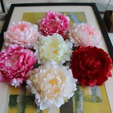 Wholesale Peonies Quanlity Peony Heads Silk Peony Flowers 15cm Large Peonies 100