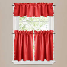 windows red valances for kitchen windows designs fair red kitchen