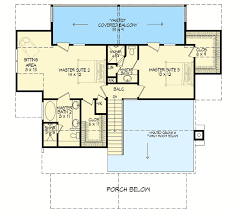 master suite floor plan cottage escape with 3 master suites 68400vr architectural