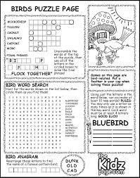 Printable Coloring Pages And Activities Birds Puzzle Page Activity Sheet Free Coloring Pages For Kids by Printable Coloring Pages And Activities