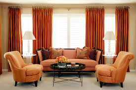orange curtains for living room ideas including and brown images