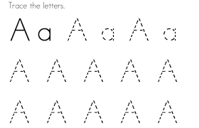 Tracing Letter A Coloring Pages For Kids To Colour In Coloring A Coloring