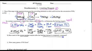 lecture ap 1 4 limiting reagent youtube