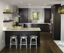 grey finish kitchen cabinets wood cabinets in contemporary kitchen kemper