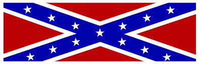 Confderate Flag Confederate Flag With White Border Bumper Sticker 10 X 3 Inches