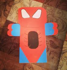 spider man paper bag puppet projects kids activities and