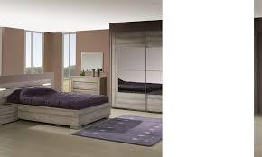 chambre comtemporaine complète lumineuse contemporaine coloris chêne grisé