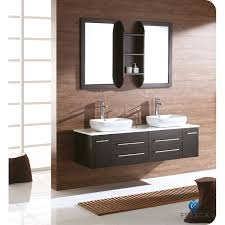 Fresca FVNES Bellezza Modern Double Vessel Sink Bathroom - Bathroom vanities double vessel sink