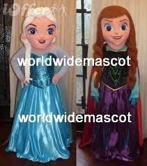 Anna Frozen Costume Special Elsa U0026 Anna Frozen Mascot Costume Olaf Princess For Sale