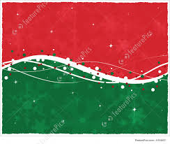 illustration of red green christmas card