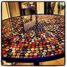 beer cap table top bottle caps or buttons your pick handy and crafty pinterest