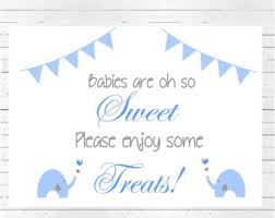 Baby Shower Candy Buffet Sign by Elephant Sign Etsy