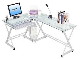 Computer Desks Amazon by Corner Glass Computer Desk Home Design