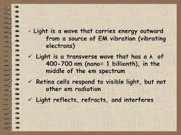 Is Light Energy Final Problem Eq6 Is Light A Wave Light Is A Form Of Radiation