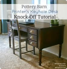 Pottery Barn Writing Desk by Classic Printer U0027s Desk With Building Plans