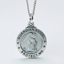 engraved necklaces for personalized kids pendant necklace guardian angel