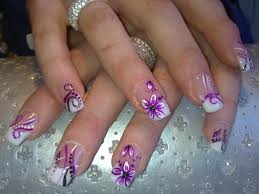 to do french manicure with colored tips