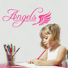 online get cheap angel baby stickers aliexpress com alibaba group baby room wall art sticker angels danced the day you were born quote decal home decoration