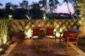Lounge Area Ideas by Landscape Lighting Ideas Outdoor Backyard Lounge Area With Garden