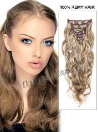 16 inch hair extensions inch 8 613 ash brown mixed clip in hair extensions