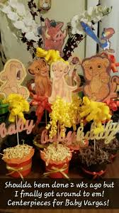 lion king baby shower lion king babyshower centerpieces easy n cheap baby shower