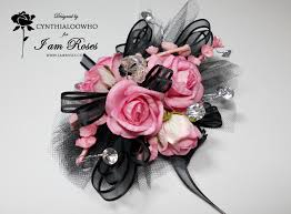 pink corsages for prom black and pink corsage corsages corsage prom and