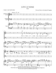 at home satb by judy checketts hatch satb