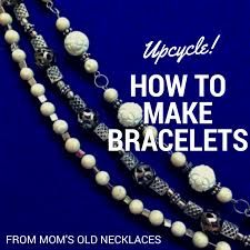 make necklace with stone images Upcycle how to make bracelets from old necklaces craft paper png