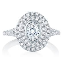 halo design rings images Solomon brothers ellipse collection oval pave double halo design jpg