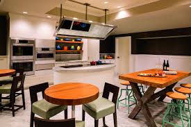 kitchen with an island design culinary studio the ritz carlton grand cayman