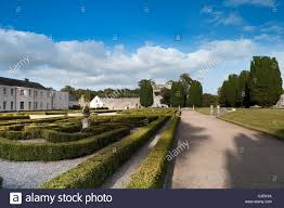 the manicured garden and ruins at the five star castlemartyr