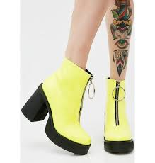 yellow boots s neon franky platform boots yellow boots current mood and black