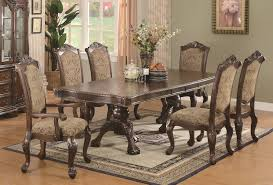 7 pc dining room set 2580 96 andrea traditional 7 pc dining set table 2 arm chairs