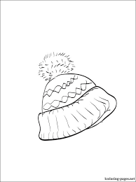 winter hat coloring coloring pages