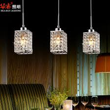 hanging lights for dining room 3head modern square led crystal chandeliers dining room lights