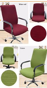 computer chair cover stretch office computer chair cover side zipper design armchair