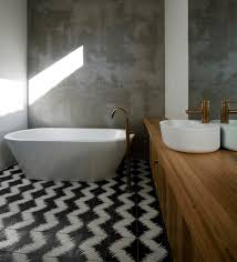 bathroom flooring zig zag black and white floor bathroom tile