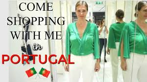 come shopping with me in portugal zara mango h u0026m try on for