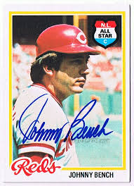 Johnny Bench Autograph In Person Johnny Bench Autograph Autographs Autograph Examples