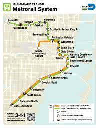 Miami International Airport Terminal Map by Metrorail Miami Metro Map United States